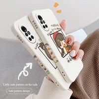 stitching milk tea girl phone case for huawei nova8 8pro 8se nova 7 7pro 7se 6 6se 5 5pro 5z 5i 5ipro 5t 4 4e silicone cover