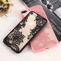 kisscase luxury lace flower case for iphone 11 pro max 11 8 7 retro floral case for iphone 7 8 6s 6 plus plus 5s 5 xs max xr x