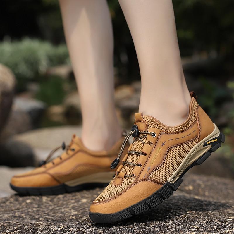 Tênis de Verão ao ar o Envio Gratuito de Malha Sapatos Casuais Masculinos Livre Calçados Leve Deslizamento-em Sandálias Zapatos