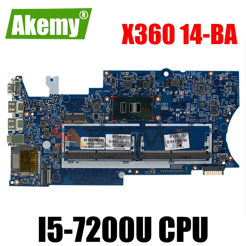 ل HP بافيليون x360 14-BA المحمول اللوحة DDR4 مع i5-7200u وحدة المعالجة المركزية 926714-601 16872-1 448.0C204.0011 100% اختبار سريع السفينة