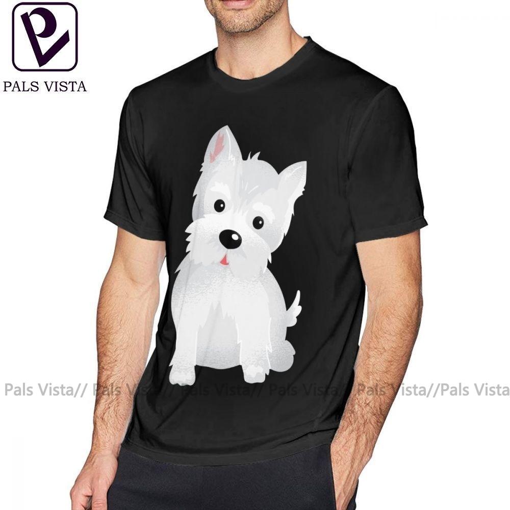 Westie camiseta Westie, camiseta de perro de manga corta 100 algodón, camiseta de gran tamaño, camiseta gráfica básica para hombre impresionante
