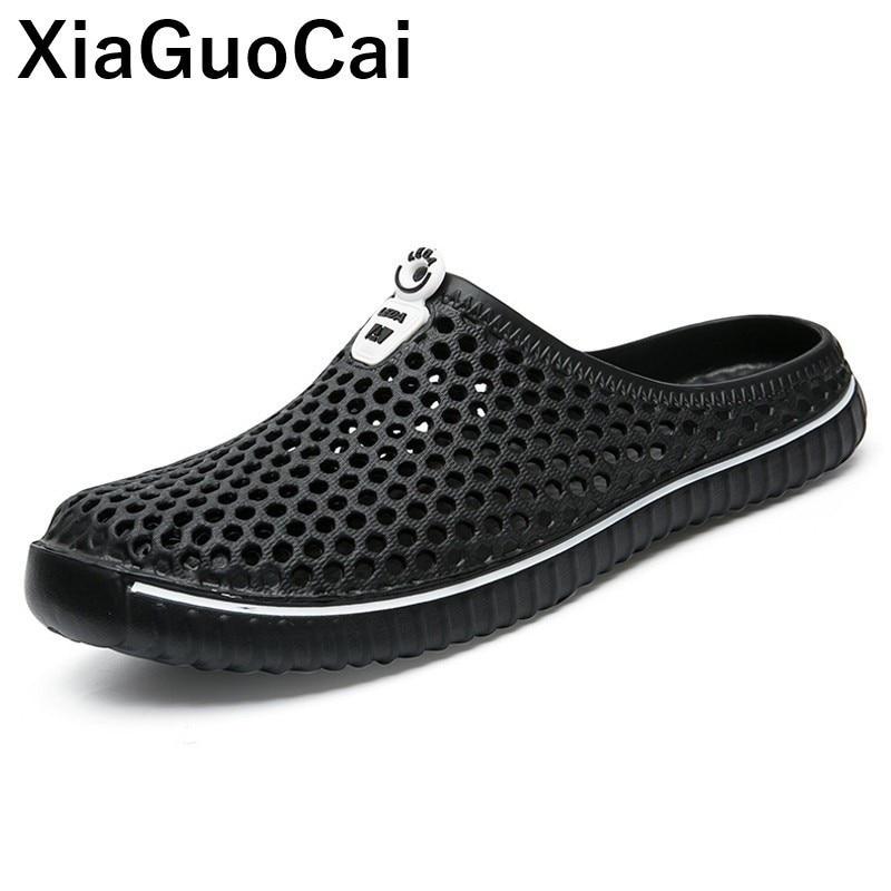 أحذية نسائية شبشب صيفي للجنسين جوفاء خفيفة أحذية الشاطئ زوجين البغال لعشاق كبيرة الحجم سيور 2021 رائجة البيع