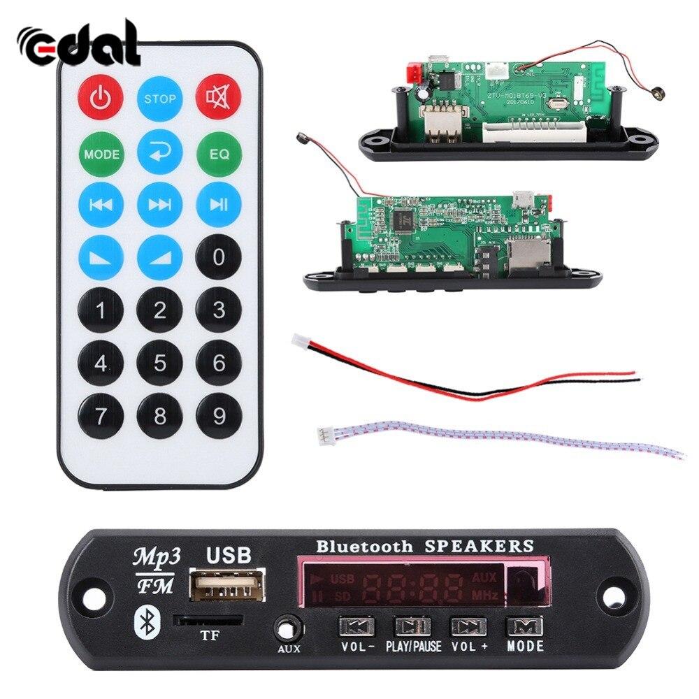 12V Bluetooth 4,2 Micro USB MIC 3,5 MM AUX FLAC MP3 WMA decodificador Junta Módulo de Audio USB TF Radio para coche