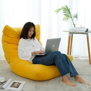 Lazy Sofa Cover Bean Bag Living Room Tatami Relaxing Chair Couch Cover Lazy Beanbag Without Inner Filler