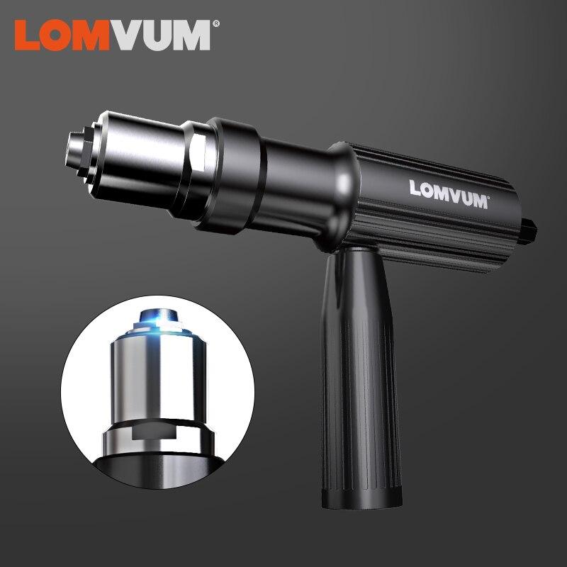 LOMVUM Новая электрическая заклепка многофункциональная клепальная Дрель адаптер пистолет авто заклепки электрическая гайка пистолет инструмент Беспроводная электрическая дрель инструмент