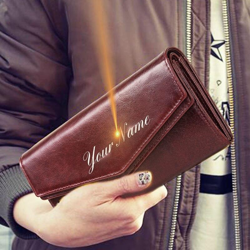 RFID nueva moda mujeres billeteras estilo largo Multi-funcional monedero de cuero fresco femenino de gran capacidad titular de la tarjeta de embrague