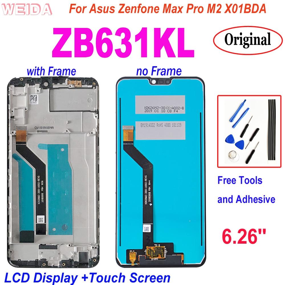 شاشات لمس أصلية, شاشة لمس أصلية لأجهزة Asus Zenfone Max Pro M2 ZB631KL ZB630KL X01BDA LCD شاشات أصلية لـ Asus ZB631K LCD