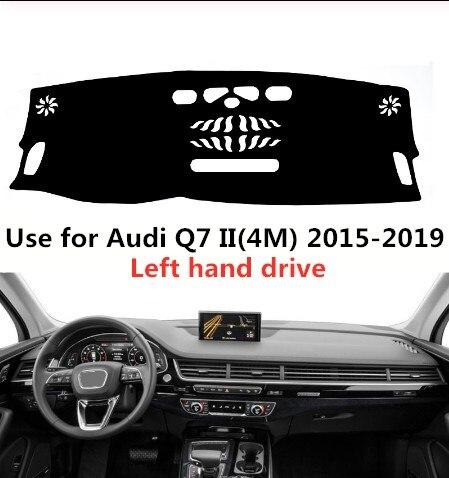 Taijs uso da capa do painel do carro da movimentação da mão esquerda para um udi q7 ii (4m) 2015- 2019 protetor anti-reflexivo