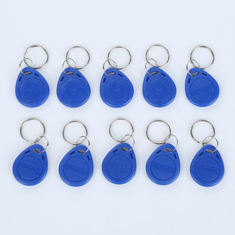 10 Uds. YC-1047 ID RFID Keyfobs Token NFC proximidad etiqueta ID tarjeta de acceso llavero Color azul