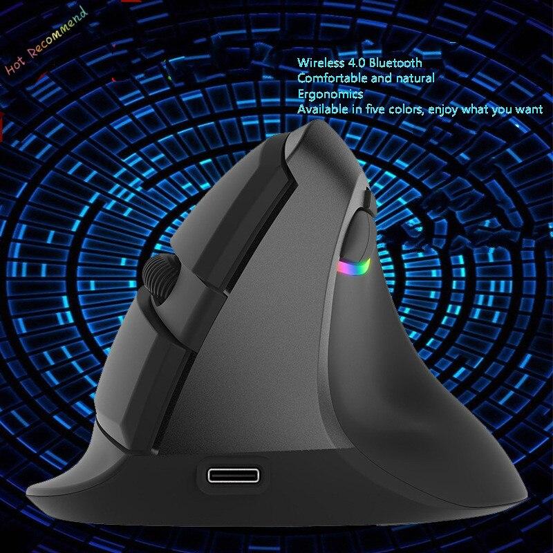 مصغرة العمودي ماوس جديد بلوتوث 4.0 ماوس لاسلكية مكتب كتم ماوس شحن 2400 ديسيبل متوحد الخواص أربعة السرعة تعديل الألعاب ماوس ألعاب
