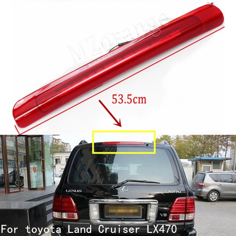 Lâmpada led de freio alto, estilo de carro, 1 peça, luz traseira de freio terceiro, para toyota land cruiser lc100 lexus lx470 1998-2004 2005 2006 2007
