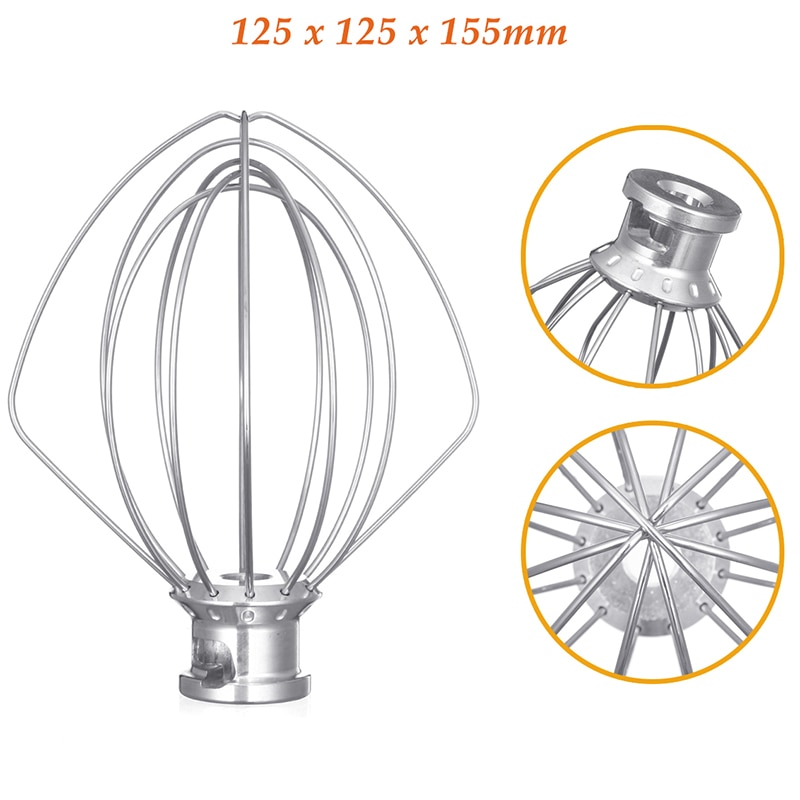 Нержавеющая сталь воздушный шар проволока хлыст миксер насадка для кухонной помощи K45Ww 9704329 мука торт воздушный шар венчик яйцо крем кухонный инструмент