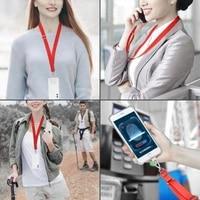 polyester adjustable webbing lanyard transparent wrist lanyard gasket hanging neck sling multifunctional mobile phone rope 1pcs
