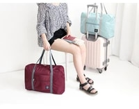 korean style travel bag foldable storage bag clothing bag shopping bag shoulder bag womens adjustable trolley luggage bag
