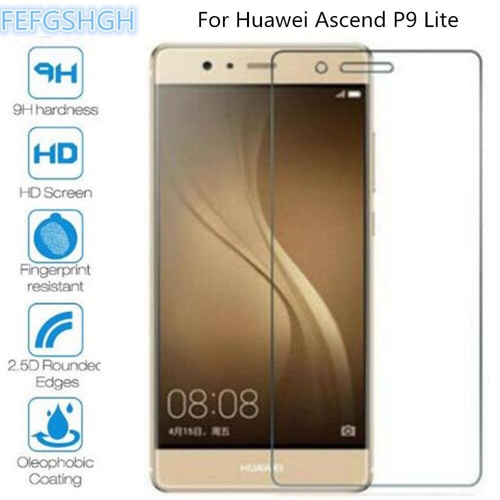 Para Huawei P9Lite vidrio templado para Huawei Ascend P9 Lite G9 Lite VNS-L21 VNS-DL00 VNS-L23 película protectora de pantalla