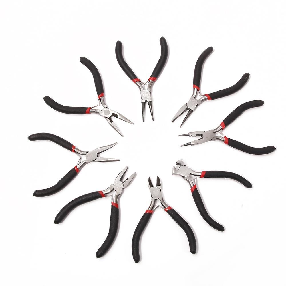 1 Uds. Alicates de joyería de alta calidad, herramientas y equipo, alicates de alambre de corte, alicates de mango negro para bricolaje, alicates de joyería