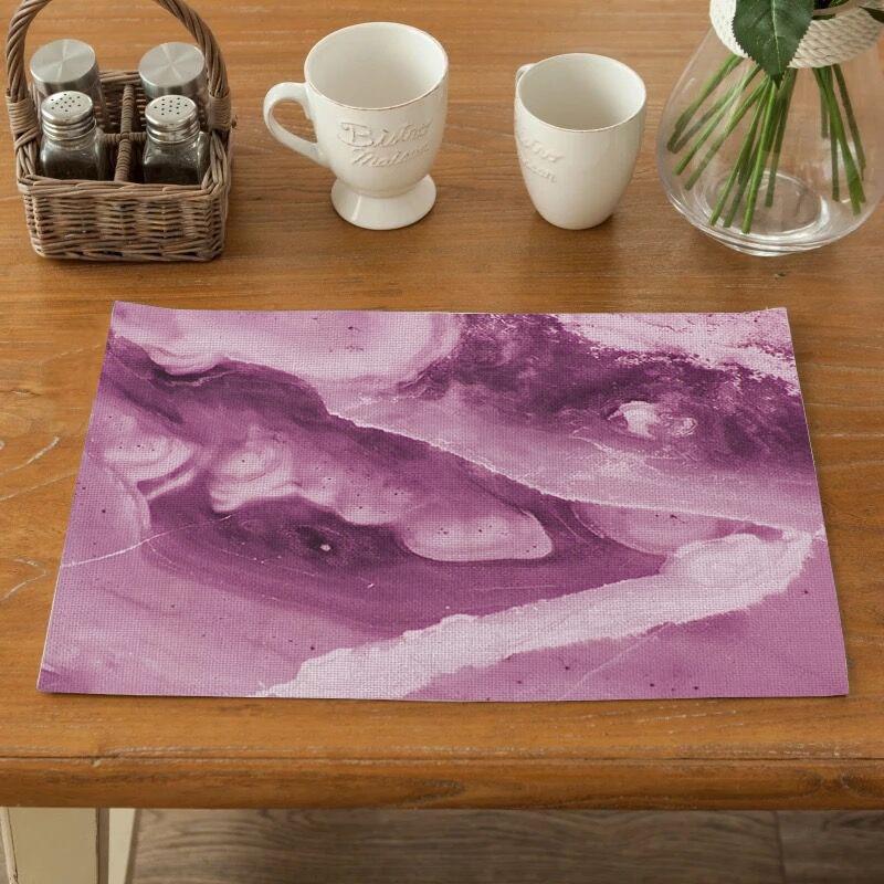 Salvamanteles TTLIFE personalizable para la Mesa de la cocina, Mantel Individual con aislamiento de mármol, posavasos a prueba de agua para decoración del hogar