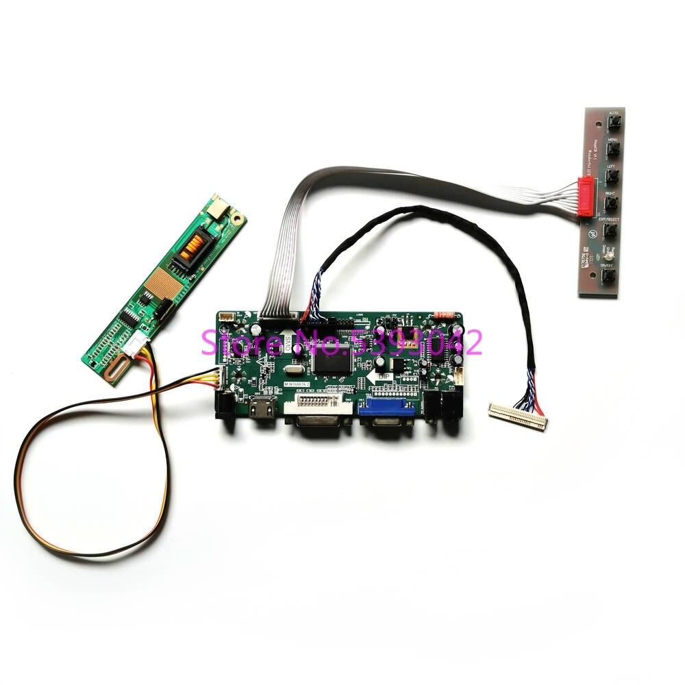 "Fit LP154WX4 (TL)(C1)/(TL)(C2)/(TL)(C3)/(TL)(C4) LVDS 30Pin keyboard 1CCFL 15.4"" 1280*800 M.NT68676 LCD controller board DIY kit"
