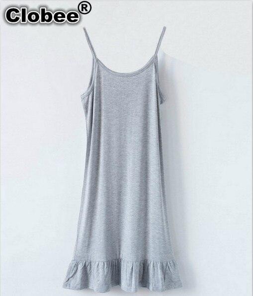 Clobee vestidos de tirantes espagueti sin mangas Sling dentro sólido vestido de fondo 2020 verano tamaño grande mujeres 6XL ropa de Tallas grandes