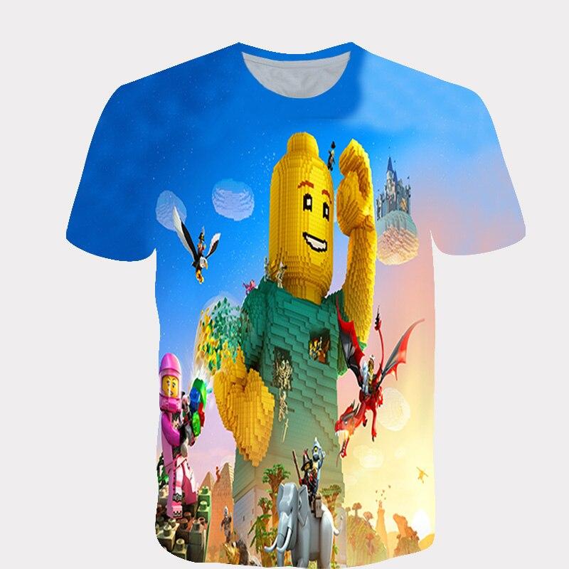 Gran oferta 3d camiseta Lego juguete hombres/mujeres 3d impresión t camisa de impresión digital diseñado con estilo de verano Tops de manga corta ropa