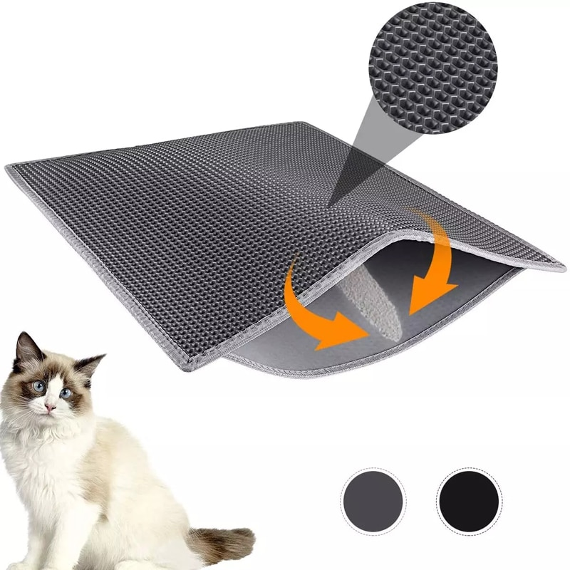Pet Cat Litter Mat Double Layer Waterproof Litter Cat Pads Trapping Pet Litter Box Mat Pet Products Bed Clean Pad Cats Clean