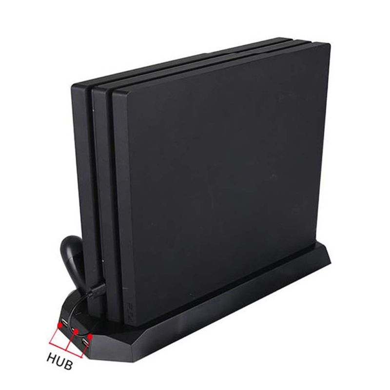 Brand New and High Quality Vertical Stand Charger for PS4 Slim Pro Dual Console Controller Charging Station with Cooling Fan enlarge