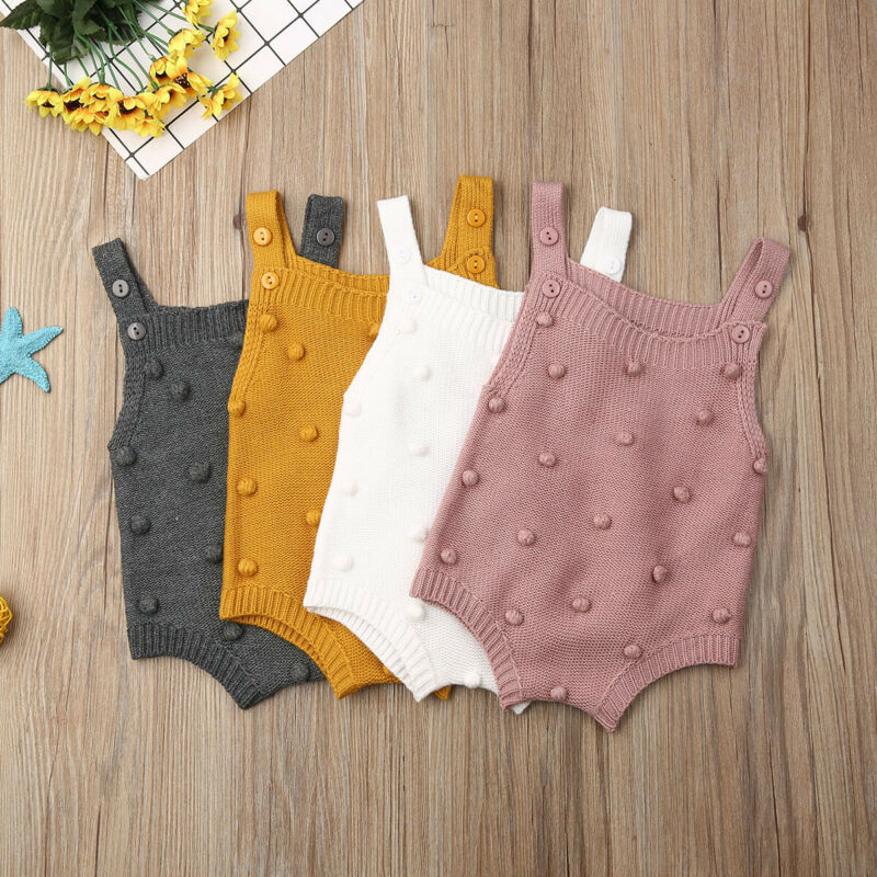 Вязаный для новорожденных комбинезоны без рукавов для маленькой девочки, комбинезон для новорожденных, Одежда для новорожденных девочек К...
