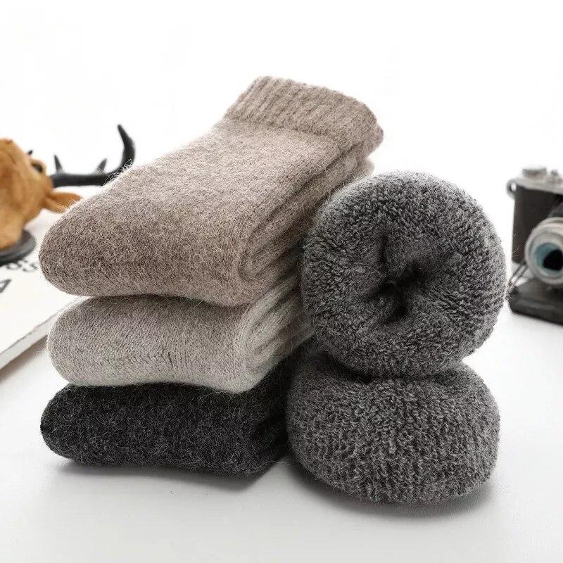 Мужские толстые шерстяные носки против холода снег россия зимние теплые мужские носки подарки для мужчин короткие носки