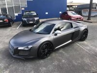 metallic matte gunmetal gray vinyl wrap roll with air release car wrapping foil size 1 52x20 meters
