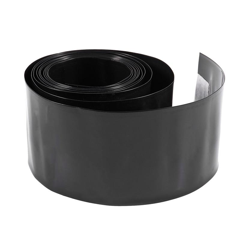 Tubo de plástico termorretráctil negro BEST2Meter de 56mm de ancho para paquete de batería AAA