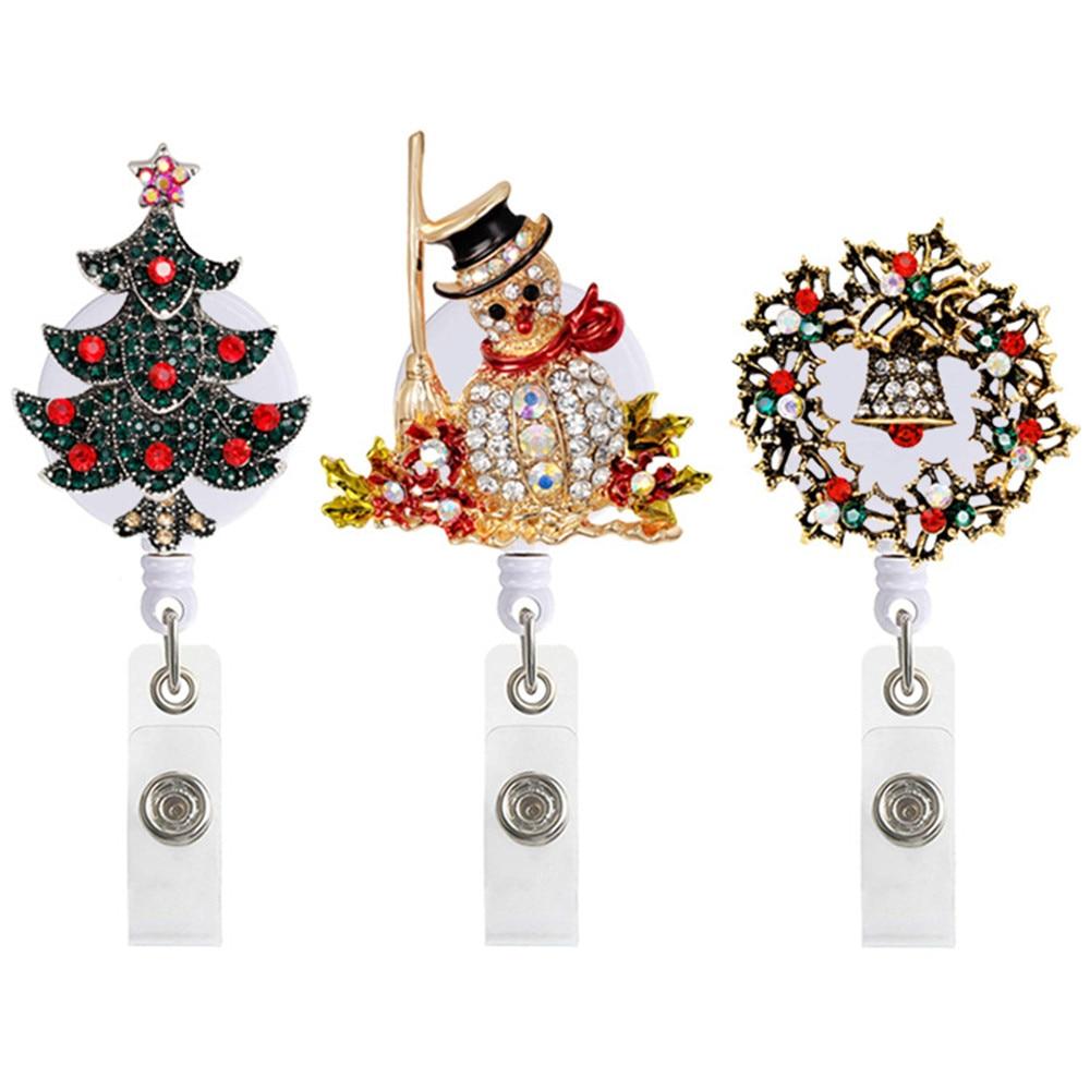 Рождественское украшение, дерево, снеговик, венок, узор, выдвижной значок, медсестры, зажим для катушки, студенческий врач, значок, значок, за...