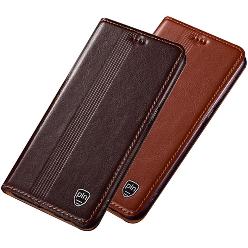 Genuine Leather Flip Case Card Holder Coque For Sony Xperia 10 II Leather Phone Case For Sony Xperia 1 II Magnetic Phone Bag