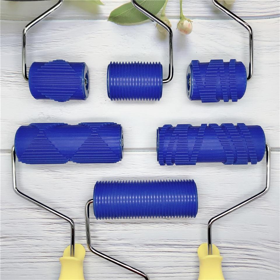 طلاء حائط منحوت يدويًا ، أدوات مع بكرات مطاطية مقاس 5 بوصات ، مجموعة أدوات ، نمط ثلاثي الأبعاد ، ورق حائط للمنزل ، الفندق