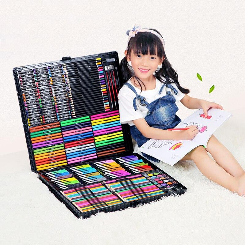 Conjunto para arte y Pintura Infantil 288 Uds., regalo para niños, rotulador artístico con dibujo de acuarela, juego de bolígrafos para niños, juguete para regalo de entretenimiento diario