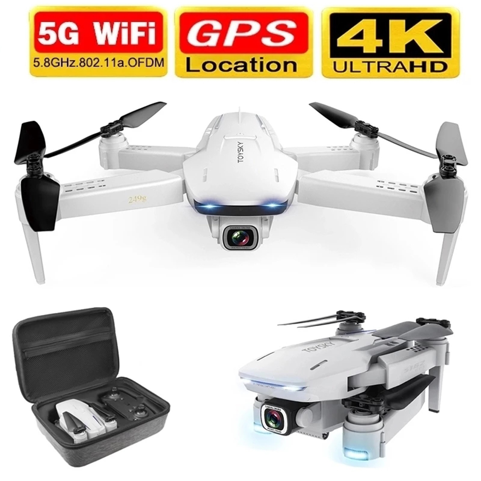 S162 Professional Gps 4k Hd Camera Drone Brushless Motor 5g Wifi Fpv Foldable RC Quadcopter Dron Remote Control Helicopter #F