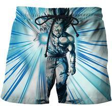 Ice Dragon Ball Anime Trein 3D Print Zomer Reizen Strand Shorts Mannen Casual Board Shorts Plage Quick Dry Shorts Badmode dropship