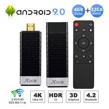 미니 PC X96S TV 박스 안드로이드 9.0 TV 스틱 DDR4 4 기가 바이트 32 기가 바이트 Amlogic S905Y2 2.4/5G 듀얼 와이파이 BT4.2 4K HD 스마트 TV 박스 PK H96 X96 맥스