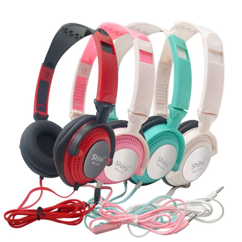 Headphones with Mic Earphones 3.5mm AUX Foldable Portable Gaming Headset For Phones MP4 Computer PC Music PS 4 5 Xbox Wii Xiaomi