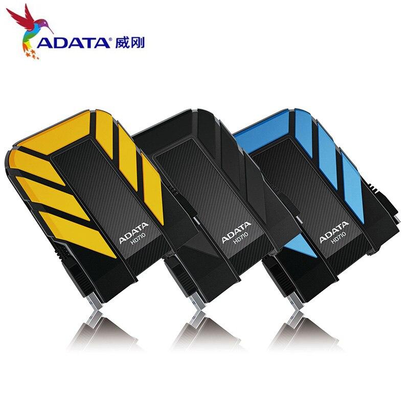 AData nuevo disco duro externo 1TB 2TB HD710 Pro USB3.1 2,5 pulgadas disco duro portátil Norma militar a prueba de golpes IEC a prueba de polvo