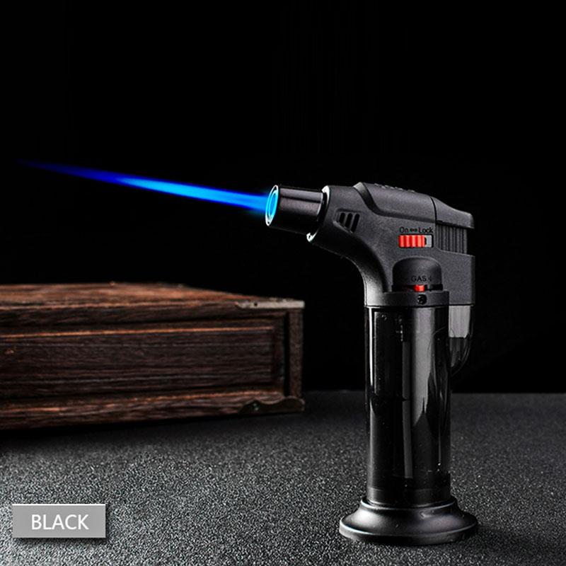 High jet Flame Butane Gas Transparent body design Refillable Adjustable Butane Jet Torch Lighter BBQ Tools Flame Ignition Tool