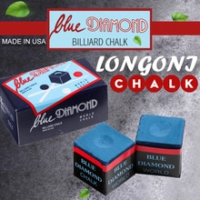 LONGONI bleu diamant billard craies 2 pièces en boîte huileux billard bâton professionnel billard accessoires 9 balle noir 8