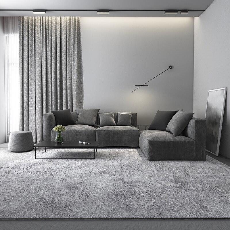 سجاد نورديك رمادي ناعم ، لغرفة المعيشة ، غرفة النوم ، غرفة الأطفال ، غرفة الطعام ، طاولة القهوة