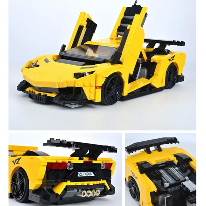 XingBao 03008 Série Technic O Lamborghining MOC Carro Criativo Conjunto de Blocos de Construção Educacional Tijolos Brinquedos Para As Crianças Presentes