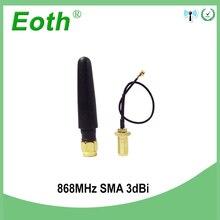Antenne GSM 868 MHz 915 MHz 3bdi SMA connecteur mâle antenne GSM 868 MHz 915 MHz antenne antennes + 10cm RP-SMA/u. FL câble queue de cochon