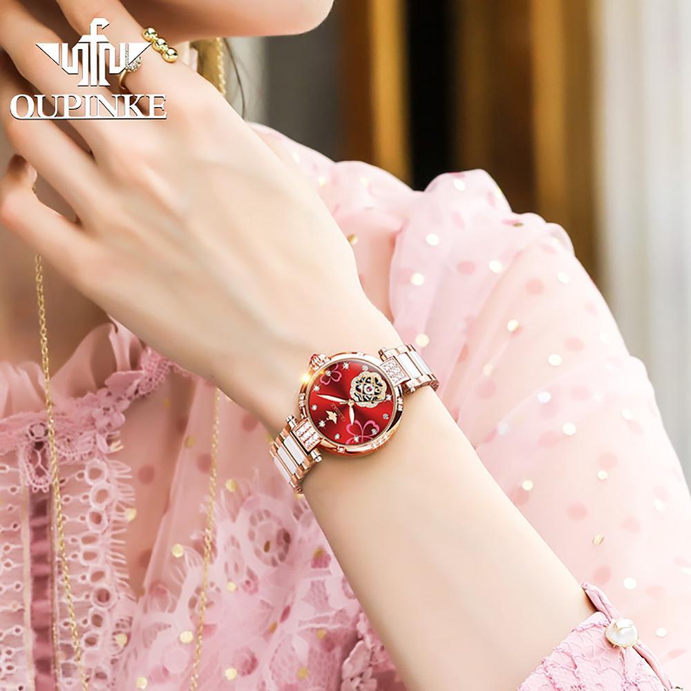 Top brand OUPINKE Women Switzerland Mechanical Watch  Automatic Mechanical Watches For Women  Luxury Fashion Watch Gift enlarge