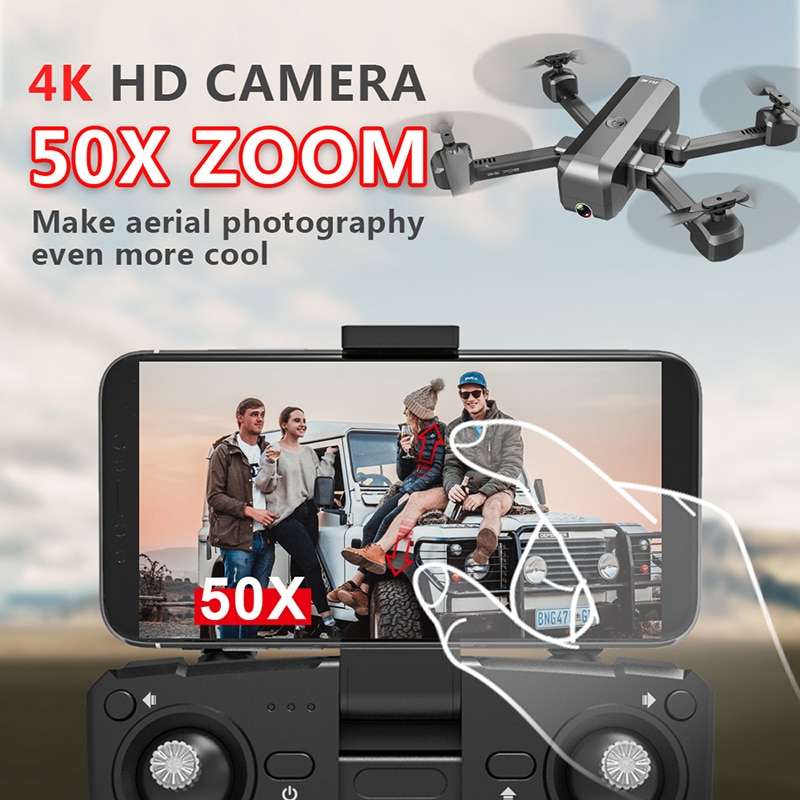 SG706 Drone 4K FPV Camera drone Professional 720P 1080P dual camera 50X zoom optical flow Foldable Quadcopter VS E58 dron enlarge