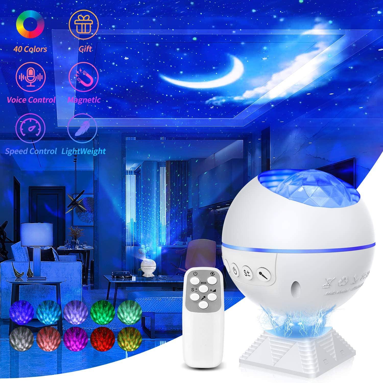 NEUE Galaxy Projektor Nacht Licht Für Home Nacht Sterne Wirkung Starry Sky Lampe Partei Projektor Ozean Welle Lampe Mit 43 licht Modi