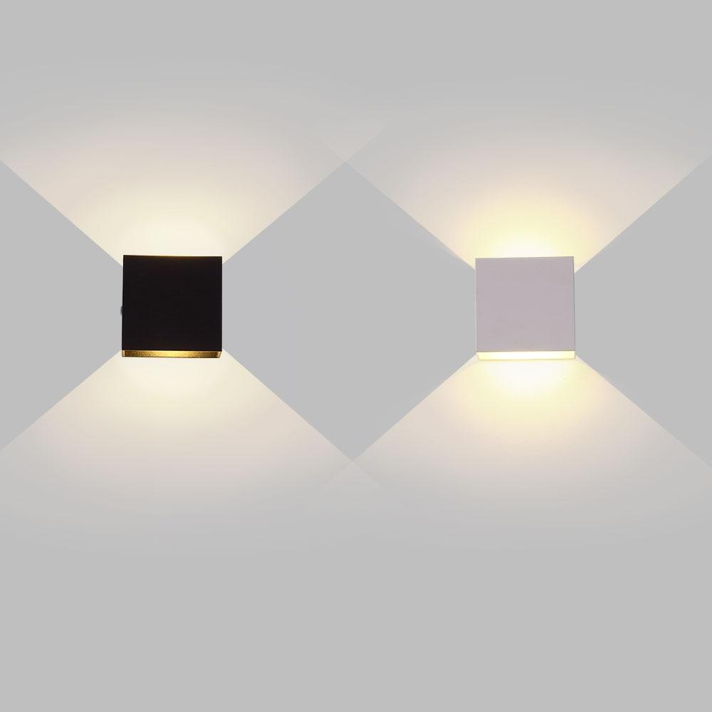 6W 12W lampada LED Aluminium wall light rail project Square LED wall lamp bedside room bedroom wall