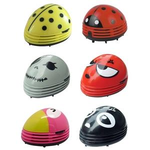 Ladybug patterned battery-operated mini vacuum table dust cleaner