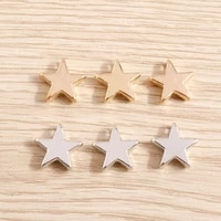 20pcs 1212mm 2 colors star charms beads for necklaces pendants bracelets accessories diy jewelry making handmade craft supplies